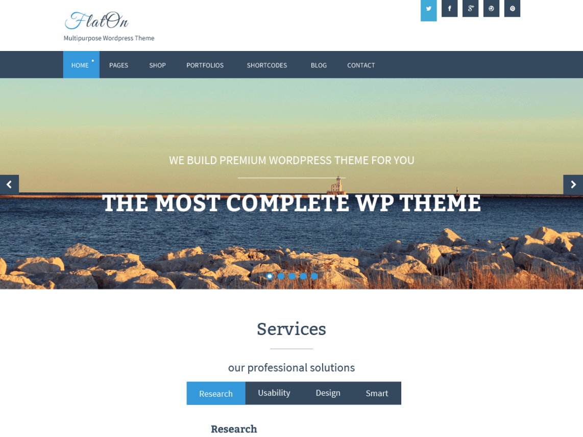 FlatOn Free WordPress Themes Download