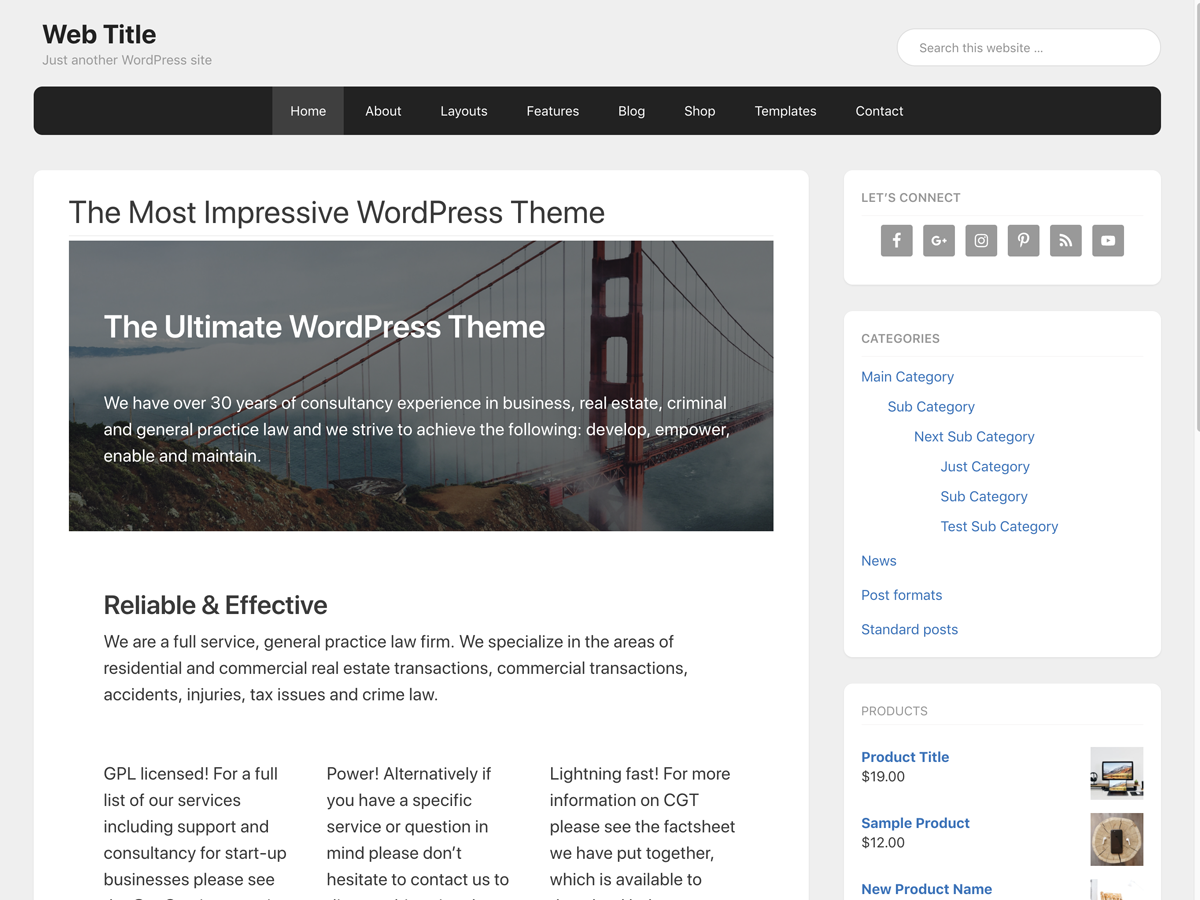 Gemin Free WordPress Themes Download