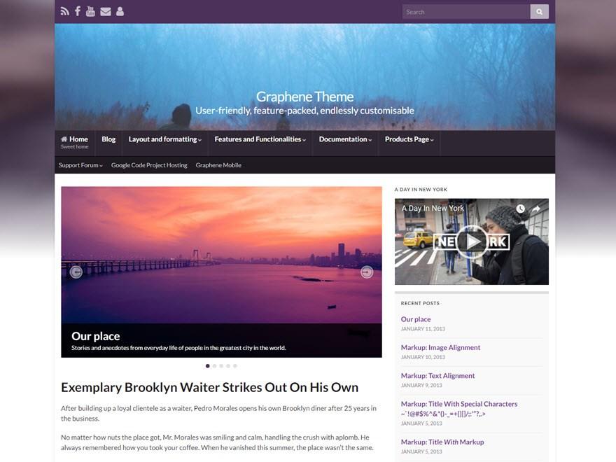 Graphene Free WordPress Themes Download