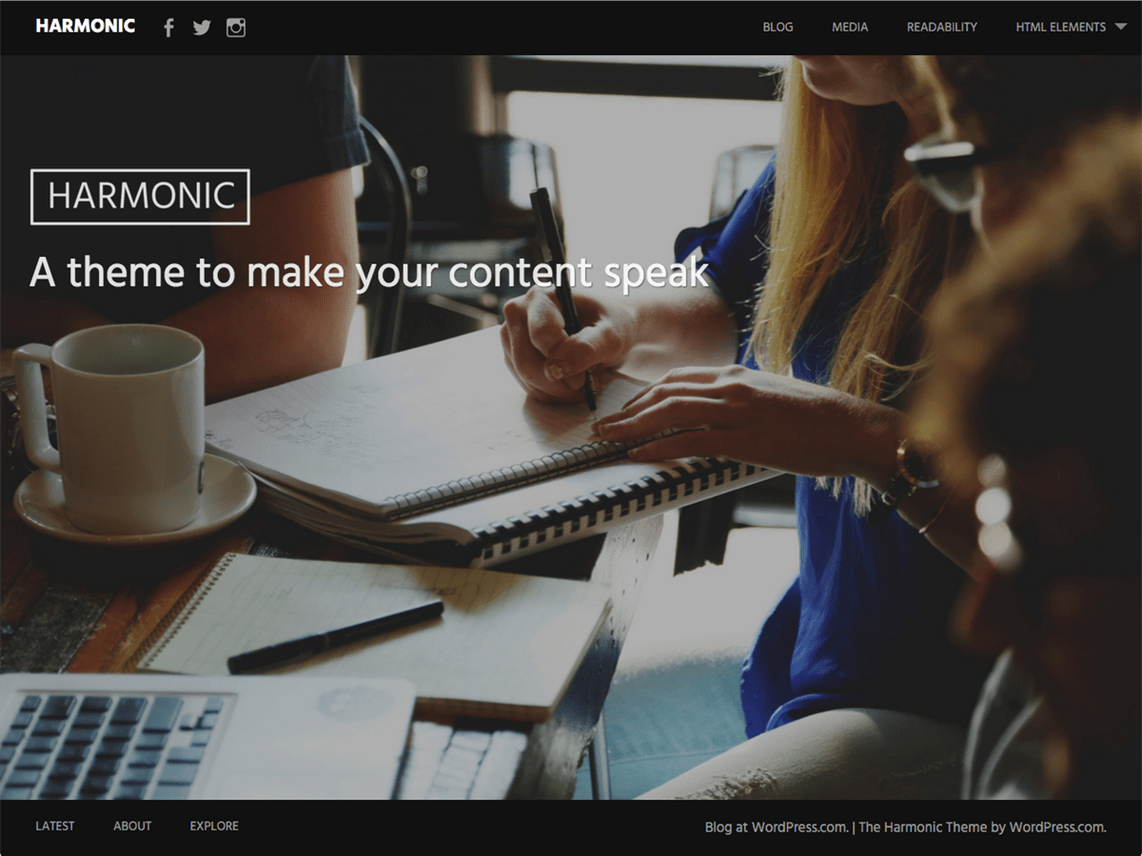 Harmonic Free WordPress Themes Download