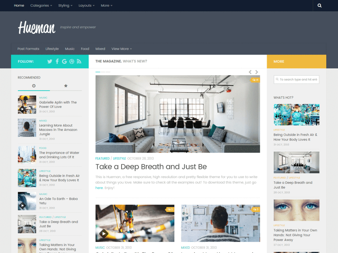 Hueman Free WordPress Themes Download