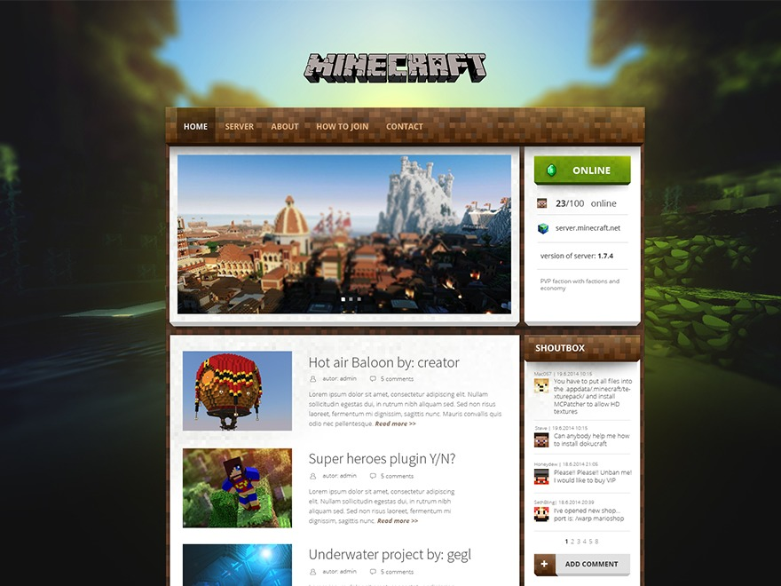 Magicraft Free WordPress Themes Download