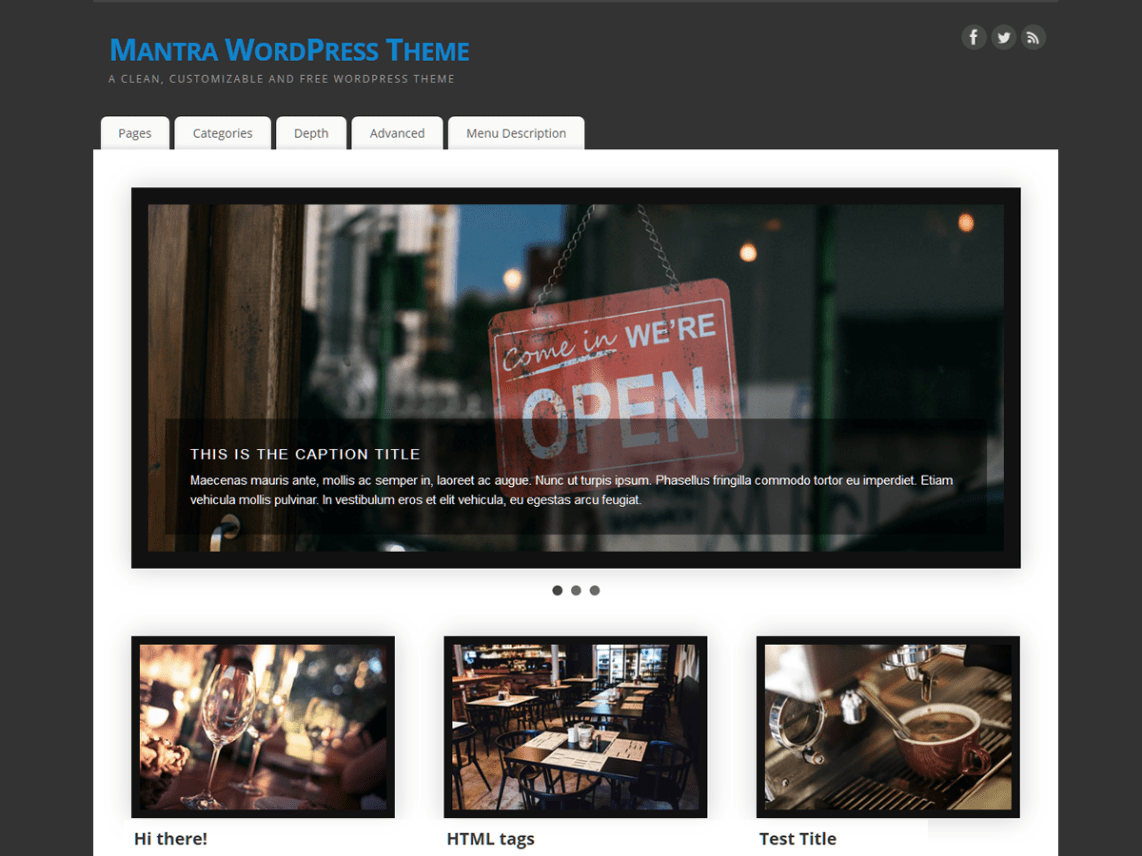 Mantra Free WordPress Themes Download