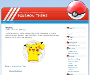 Pokemon Free WordPress Themes Download