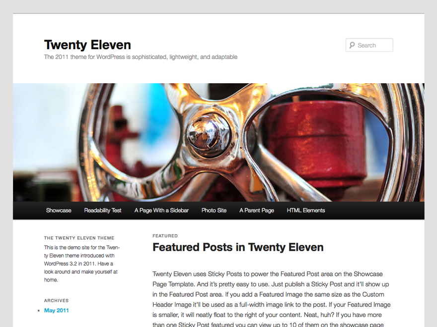 Twenty Eleven Free WordPress Themes Download