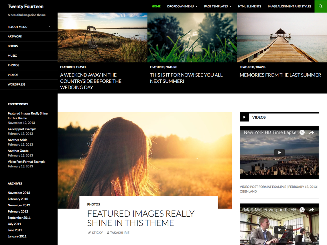 Twenty Fourteen Free WordPress Themes Download