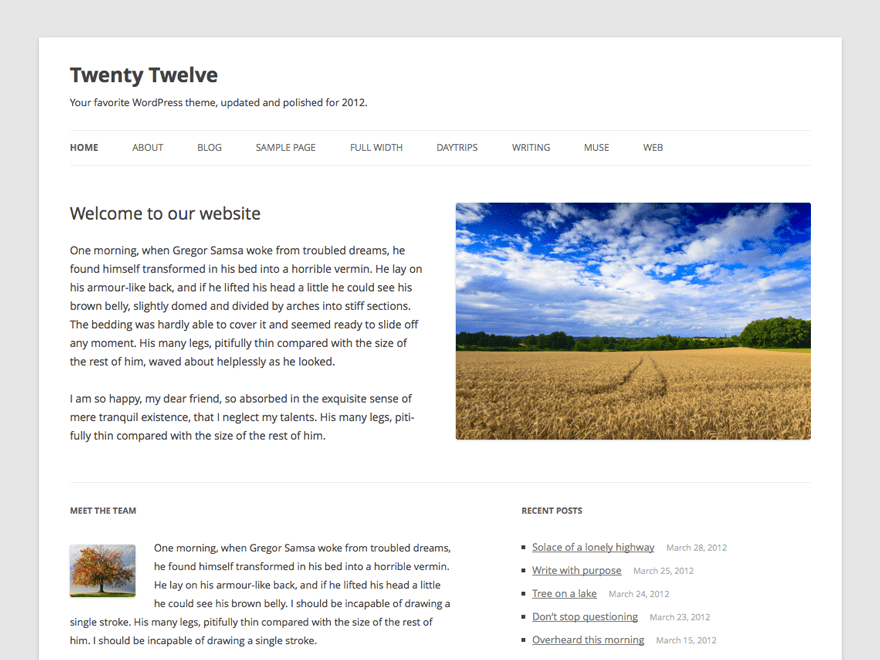Twenty Twelve Free WordPress Themes Download