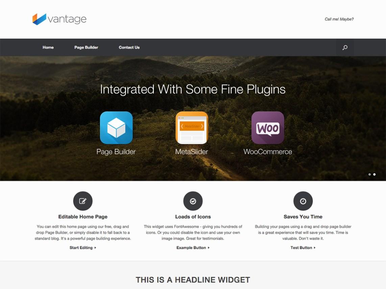 Vantage Free WordPress Themes Download