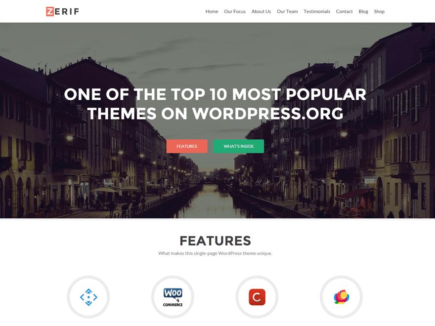 Zerif Lite Free WordPress Themes Download